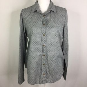 J. Crew Top Perfect Shirt Heather Dot Button Down